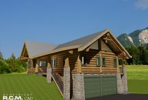 1581 sq. ft - Carpathian / The Carpathian design was completed last month for a Romanian couple. Because of a specific site with two major mountain views at 90 degree angle from each other, clients wanted to capture both views with gables aiming directly towards the mountain pics. I hope many will find it interesting to follow the progression and evolution of a demanding and creative design to completion.