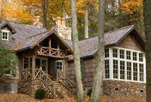 Poplar bark siding / by Debra Jones