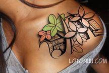 Polynesian tatoo designs
