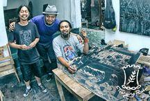 Taring Padi Yogyakarta / Hardboard cut