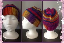 Mutsen / sjaals hats / scarf / Gehaakte mutsen door margrietjes creaties