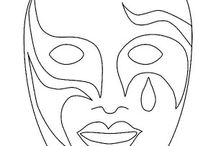 Masks coloring book / Masks coloring pages
