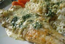 Вторые блюда с рыбой и морепродуктами