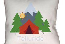 Telluride, Colorado Throw Pillows