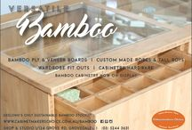 Bamboo Cabinetry / Cabinetmakers Choice is Geelong's  distributor of a range of quality LETO Bamboo products.  Because bamboo is very dense, it machines cleanly, sands beautifully and glues easily for turning legs or posts, and lends itself to a wide variety of applications. For example, Bamboo kitchen cabinetry, bathroom vanities, bedroom furniture, wardrobes and tallboys.   Bamboo ply is also a popular choice for DIY projects such as tables, shelves, signage, desks, picture framing - the list is endless!