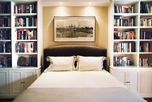 Bookshelves with Sofa recessed