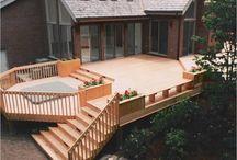 Outside decks