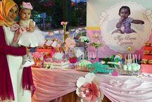 Alya Beren'in Melek Temalı 1 Yaş Doğum Günü Parti Organizasyonu