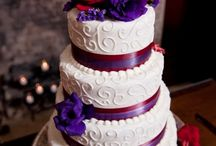 Wedding Day / Red and purple church wedding / by Jakia Mills