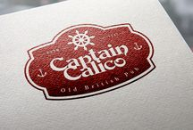 """Hospitality marketing - Captain Calico - Old British Pub / A brand and storyline concept from sketch. Restaurant & Pub  marketing. On the first stage we have figured out all the local story """"Jack Calico"""" (one of the famous british pirates) and designed the logo. Shortly we will do all the other works."""