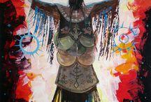 DÁVID JÚLIA / Dávid Júlia 1961-ben született Marosvásárhelyen.  1989-től törökországi korszaka indult: üvegfestészettel és dekorálással foglalkozott.