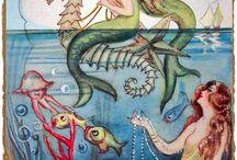 vintage mermaid graphics