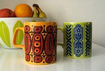 Staffordshire vintage tea mug