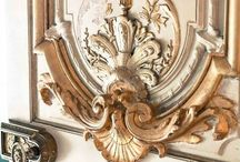 Ornate & Embellished~*~ / I love furnishings, walls, ceilings, doors and exterior architecture that has moldings and embellishments.