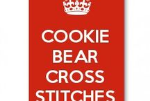 Cookie bear cross stitches