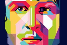 WPAP by Ibnu Fajar / WPAP (Wheda's Pop Art Potrait) is a modern style of pop art potrait invented by Wheda Abdul Rasyid (Indonesia)
