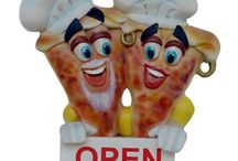 horeca decoratie figuren / horeca, pizza, ijsjes, friet enz