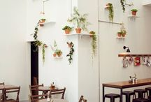 HOME STYLE / Beautiful interiors, spaces and homes.  White base, natural timbers, earthy textures + patterns, greenery and a pop of colour.