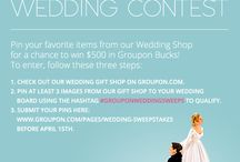 Groupon Wedding Contest / Submit your pin for a chance to win $500 in Groupon Bucks. http://www.groupon.com/pages/wedding-sweepstakes / by Groupon