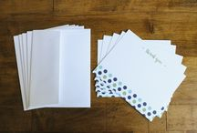 Stationery / Simple yet stunning stationery--Thank you cards--Note cards--And more! All from Stock & Stamp Design House