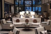The Langham Chicago Installation / This is the collection of furnishing we manufactured for Pavilions, the hotel's main lounge
