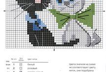 Схемы для вязания и вышивки кошаков