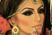Arabian and Indian Bridal Makeup