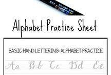 Brushes lettering