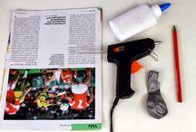 artesanato com revista e jornal