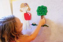 Bible Felt Boards / Instructions, patterns and ideas for making felt Bible stories. Good visuals for Sunday School, Good News Clubs, any children's ministry.