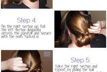 Cute hair ideas! / by Jasmine Kyle