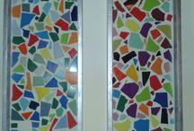 mozaiek en glas in lood