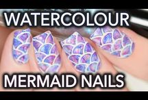 Mermaid Nail Art Ideas / Mermaid Nail Art Ideas, Tutorials, and designs.