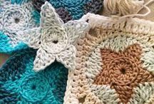 knit blanket stars