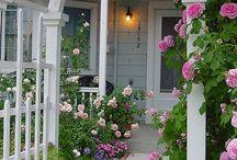 Front porch-side walk Garden