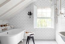 bathrooms / Minimalist and clean bathrooms with simple furnishing.