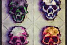 Hama Beads Skulls