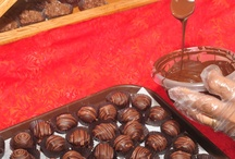 Our Chocolates / We make Artisan chocolates in our store. All natural with no stabilizers or fillers. We make our own marshmallow, toffee, and caramel for our confections.