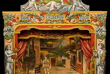 Diarama's and Mechanical Wooden Toys / Victorian and historical Diaramas