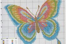 Cross stitch /butterflies