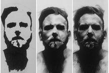 monochrome drawings/studies