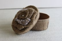 Burlap Jewelry Boxes / by BurlapFabric.com