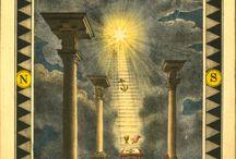 Masonic Art (3 Pillars) / Masonic Artworks (Color Graphics - Three Pillars)