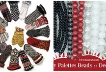 Pretty Palettes December 2015 / Play along with Erin Prais-Hintz as she creates color palettes to inspire your beading projects!