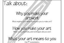 Artist Statements / Artist statement ideas for junior high art class (8th and 9th grade).