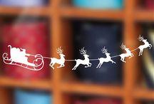 vinilos decorativos navideños navidad / los vinilos navideños más bonitos y originales para decorar tanto la casa como tiendas y comercios. vinilo con orlas navideñas, Papá Noel, estrellas, árboles de navidad, orlas, vinilos navideños para escaparates en tiendas, trineos, regalos....