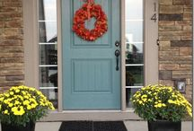 Decorating for Holidays with Doors / Here are ideas for decorative for the holidays using doors.