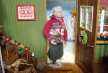 """Inspiration till mitt """"tomtehus"""" / Inspiration for my """"santa-house""""."""