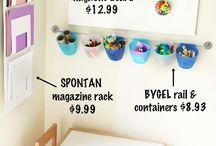 Organizing kids craft space