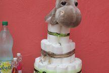 Diapers cake / Le fameux gâteau de couches!